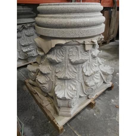 Columna maciza Granito G 603 abujardado