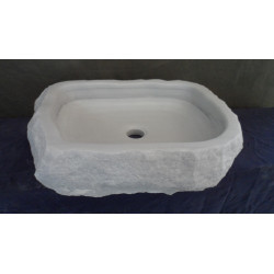 Lavabo en Mármol Blanco Macael