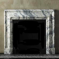 Chimenea mármol Blanco Carrara